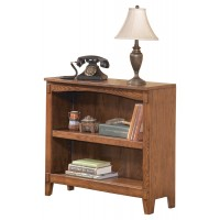 Cross Island - Medium Brown - Small Bookcase