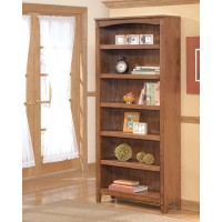 Cross Island - Medium Brown - Large Bookcase