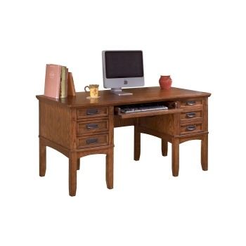 Cross Island - Medium Brown - Home Office Storage Leg Desk
