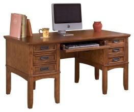 Cross Island - Medium Brown - Home Office Storage Leg Desk