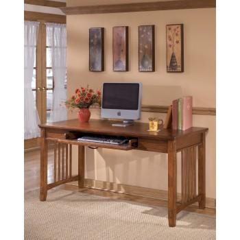 Cross Island - Medium Brown - Home Office Large Leg Desk