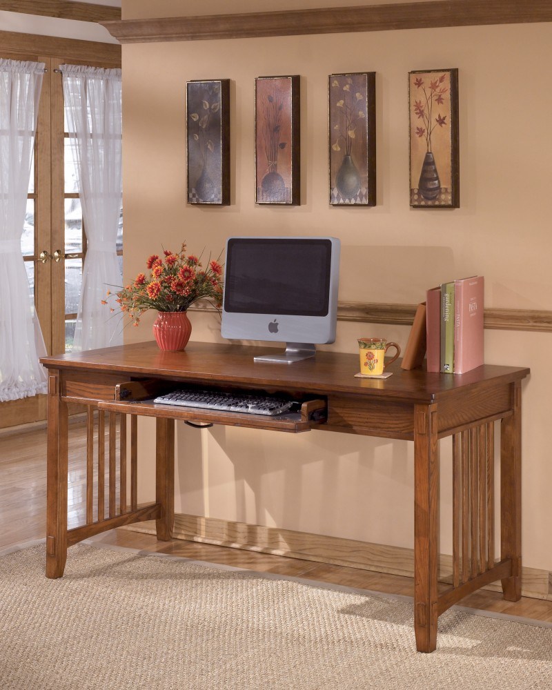 Genial Cross Island   Medium Brown   Home Office Large Leg Desk