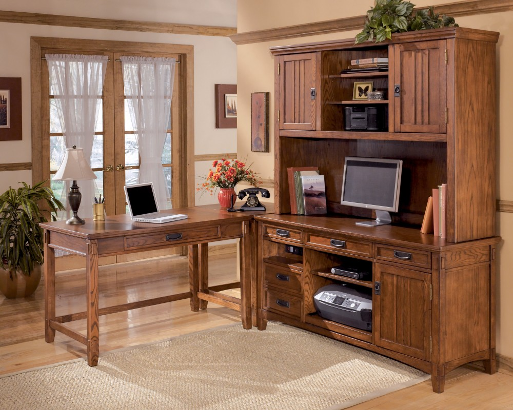 Cross Island - Medium Brown - Home Office Corner Table