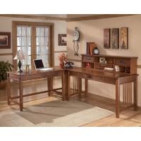 Cross Island - Medium Brown - Home Office Corner Table