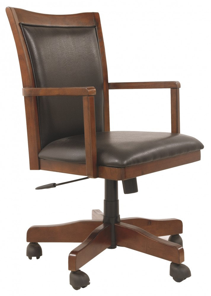 Hamlyn - Medium Brown - Home Office Swivel Desk Chair