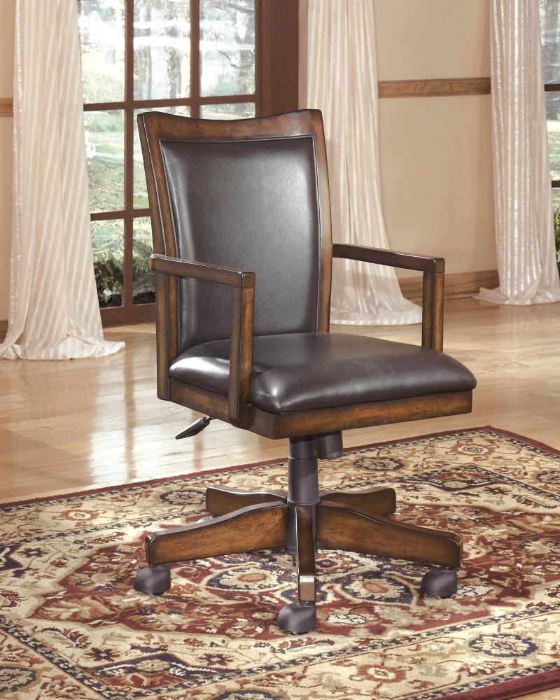 Hamlyn - Medium Brown - Home Office Swivel Desk Chair