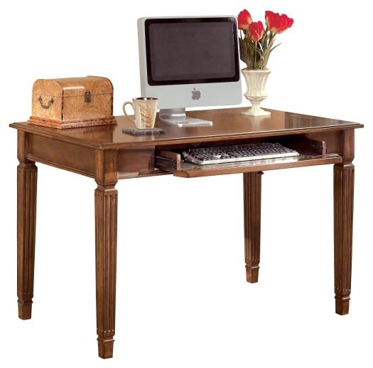 Pruitts Bedroom Furniture: Hamlyn - Medium Brown - Home Office Small Leg Desk
