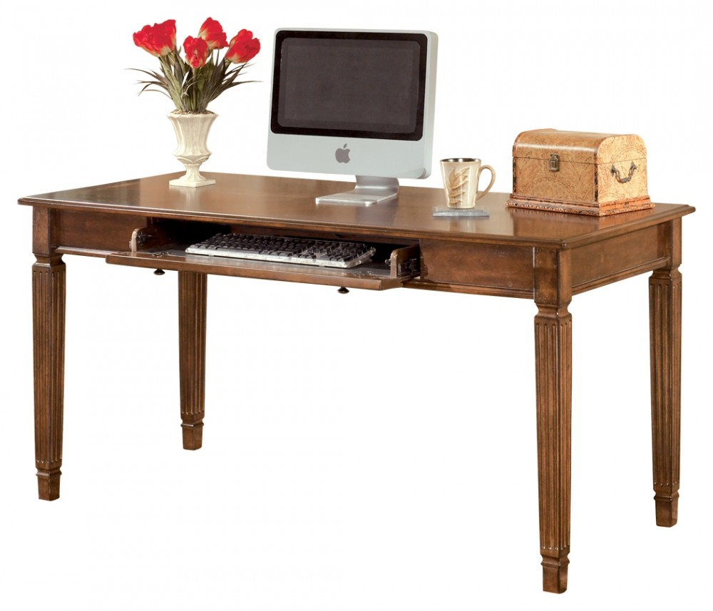 Hamlyn   Medium Brown   Home Office Large Leg Desk