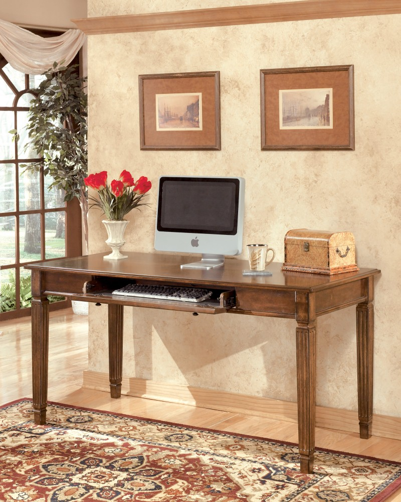 Hamlyn - Medium Brown - Home Office Large Leg Desk