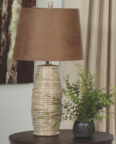 Haldis - Beige - Ceramic Table Lamp (2/CN)