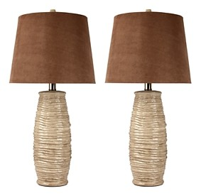 Haldis Beige Ceramic Table Lamp 2 Cn L136534 Lamps