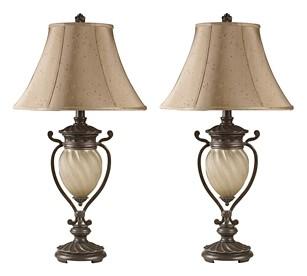 Gavivi - Dark Brown - Metal Table Lamp (2/CN)