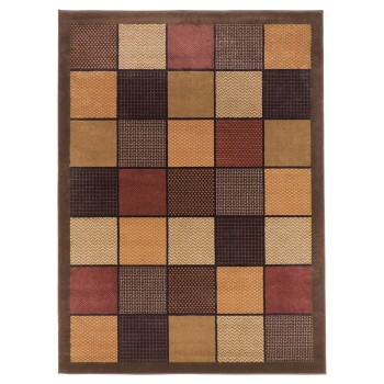 Patchwork - Brown - Medium Rug