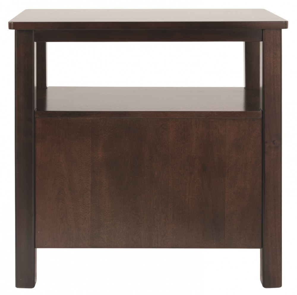 Marion Dark Brown Chair Side End Table T477 7 Chairside