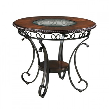 Glambrey - Brown - Round DRM Counter Table