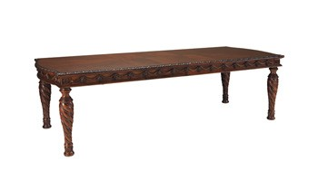 North Shore - Dark Brown - RECT Dining Room EXT Table
