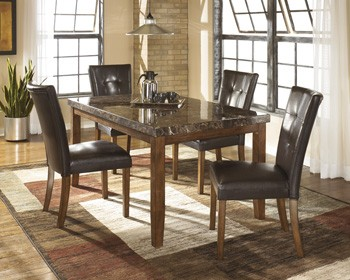 Lacey   Medium Brown   Rectangular Dining Room Table