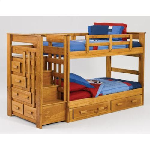 Woodcrest Sth500 Twin Over Twin Stairway Bunk Sth500 Beds Jb S
