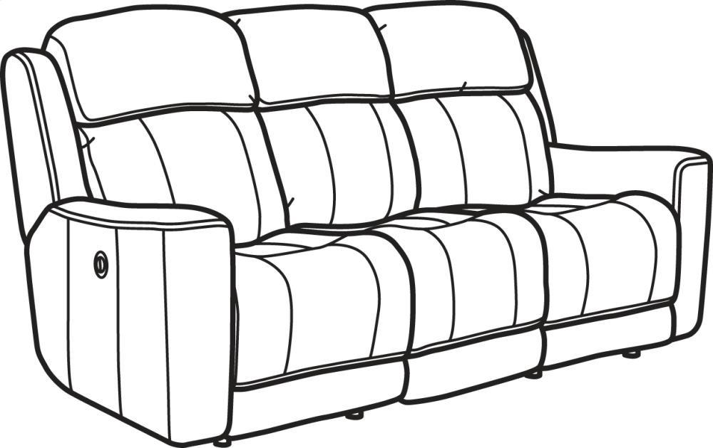 Brooks Fabric Power Reclining Sofa | 132262P | Reclining ...