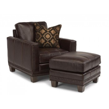 Port Royal Leather Ottoman