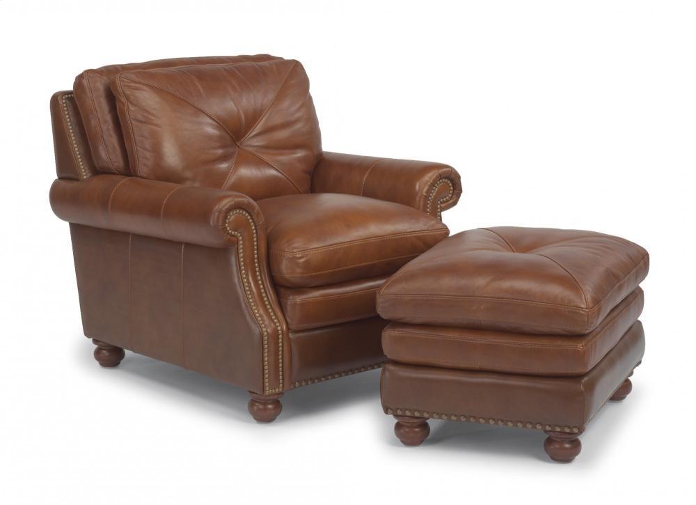 Suffolk Leather Ottoman