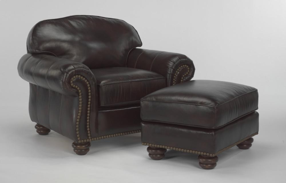 Bexley Leather Chair With Nailhead Trim 364810 Leather