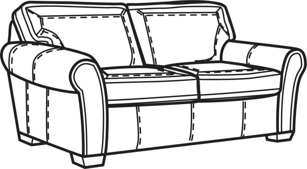 Vail NuvoLeather Two Cushion Sofa