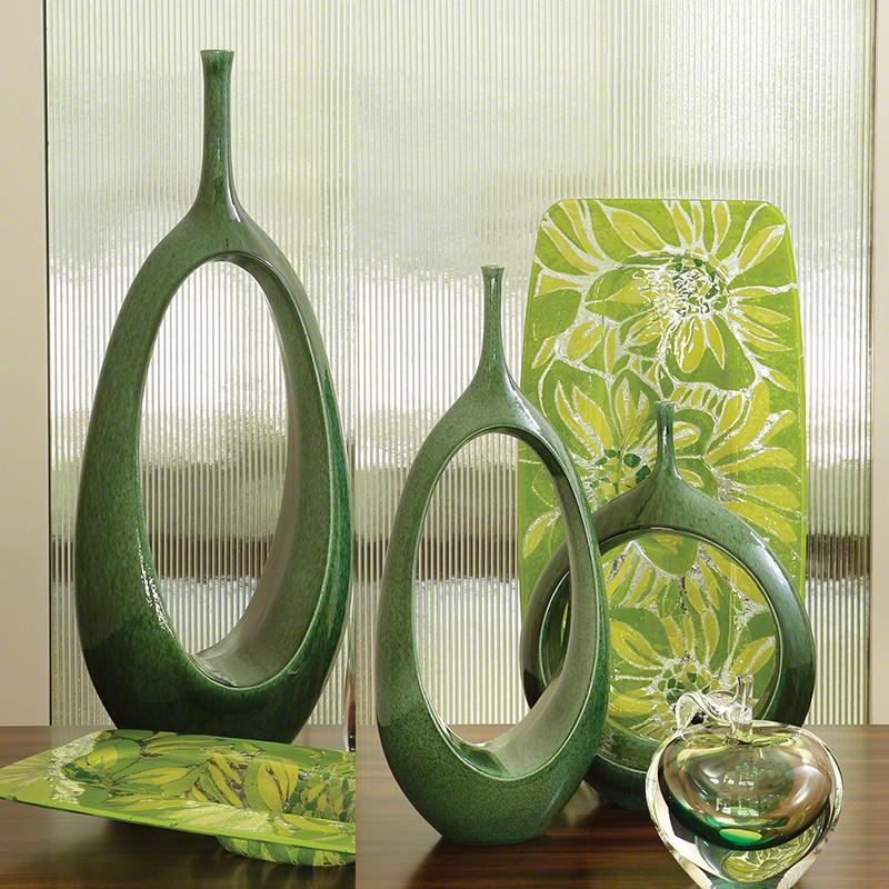 Open Oval Ring Vase Emerald Med Accessory Item At Hom