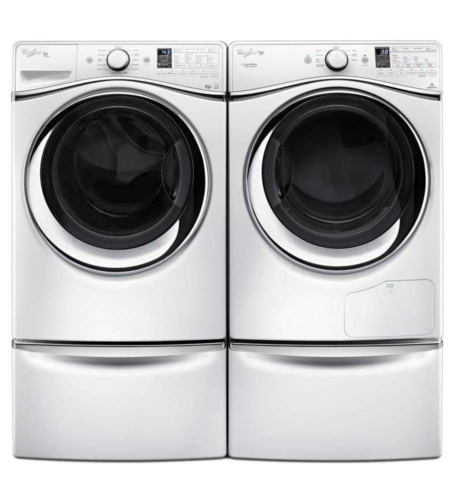 pd white inch color lowes laundry maytag shop at pedestal com