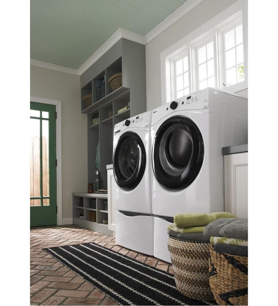 maytag and for pedestal pedestals dryer in with washer white p storage front load laundry