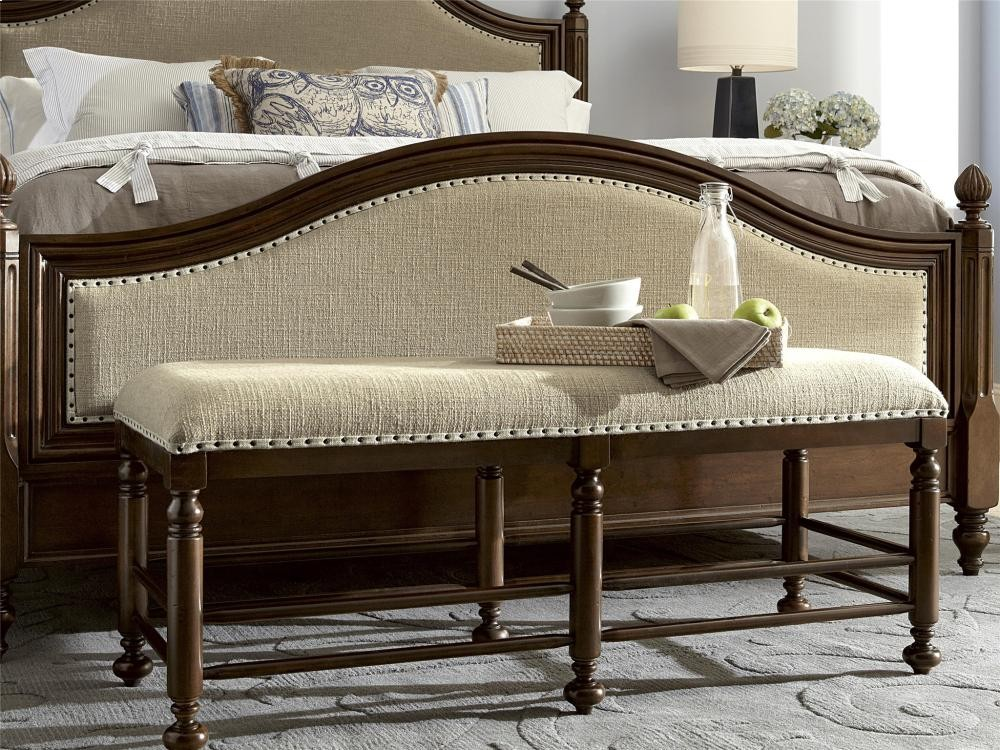 Paula deen home bed bench river bank benches whit ash