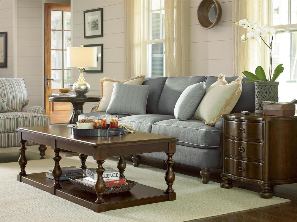 Paula deen home round end table river bank tables whit ash