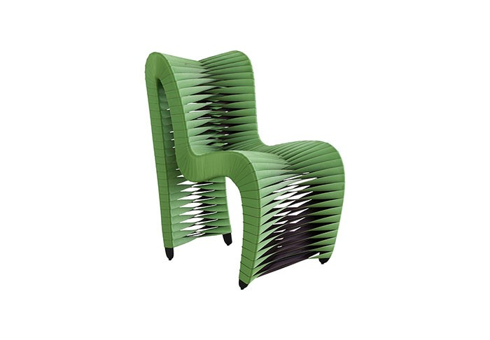 Seat Belt Outdoor Dining Chair Green/Brown