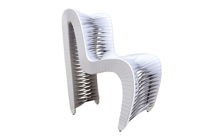 Seat Belt Outdoor Dining Chair White