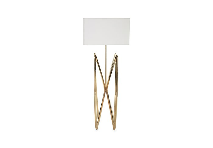 Butterfly Floor Lamp Plated Brass Finish | Lamps | At-Hom