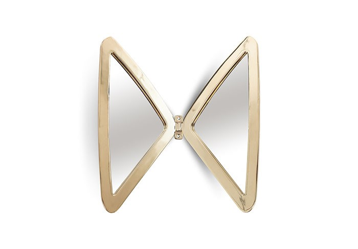 Butterfly Mirror Plated Brass Finish