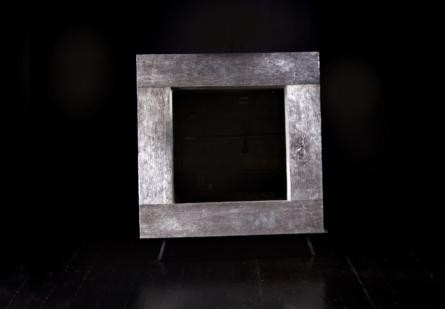 Old Lumber Mirror Silver Leaf, Square