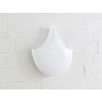 Scales Wall Tiles Glossy White, Set of 3