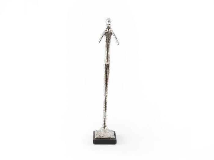 Speak No Evil Sculpture Silver Leaf, SM