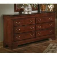 Louis Dresser - 8 Drawers - Cherry Finish