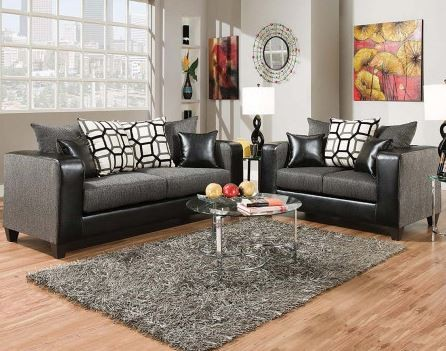 Object Charcoal Living Room | Sofa & Loveseat Groups | Exclusive ...