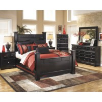 Shay - Almost Black - Two Drawer Night Stand