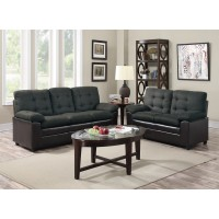 Great Deal Gray/Black Sofa and Love