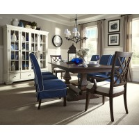 Trisha Yearwood Trestle Table, Chairs & China Cabinet