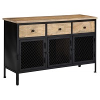 Ponder Ridge - Black/Natural - Accent Cabinet