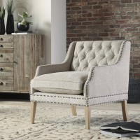 Trivia - Bone - Accent Chair