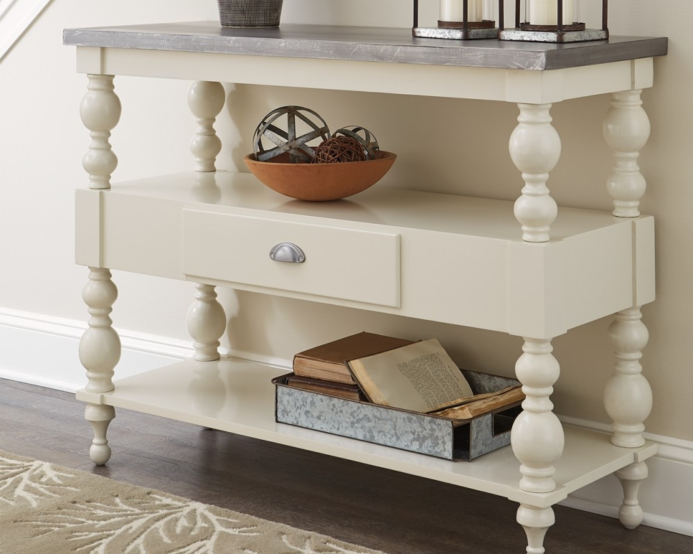 Antique white sofa table Entryway Fossil Keating Furniture Fossil Ridge Antique White Console Sofa Table A4000013 Sofa