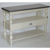 Fossil Ridge - Antique White - Console Sofa Table