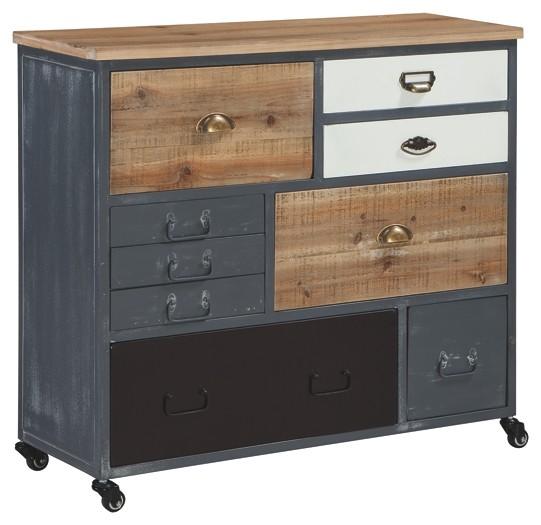 Pruitts Bedroom Furniture: Ponder Ridge - Gray - Accent Cabinet