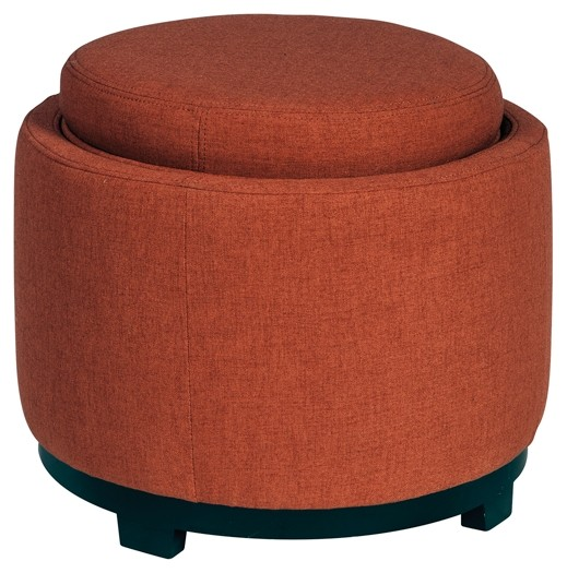 Menga Adobe Ottoman With Storage A3000035 Ottomans